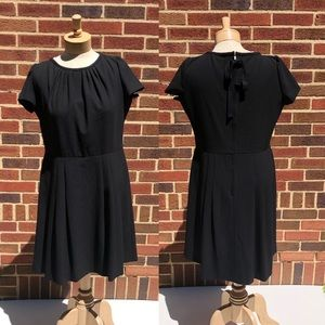 RED Valentino Black Pleated Formal Dress Size 50